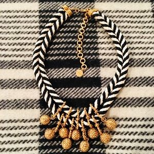 STELLA & DOT KALANI BLACK & WHITE GOLD NECKLACE